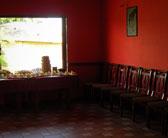 Mažoji salė papuošta šventei